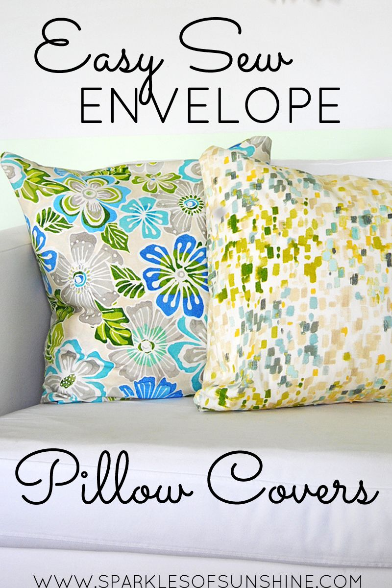 Easy Sew Envelope Pillow Covers | Diy pillow covers, No sew