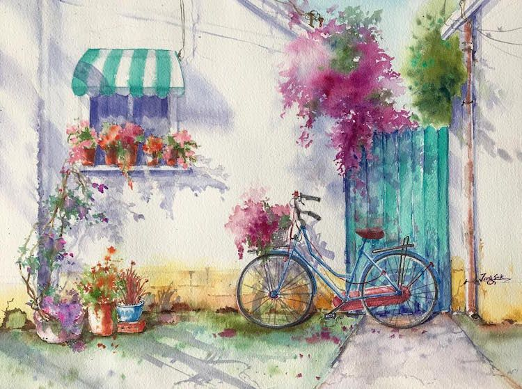 Watercolor Paintings Capture The Captivating Colors Of Springtime In California Watercolor Paintings Easy Watercolor Art Paintings Easy Watercolor