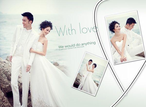 Free Wedding Al Psd Templates Sea