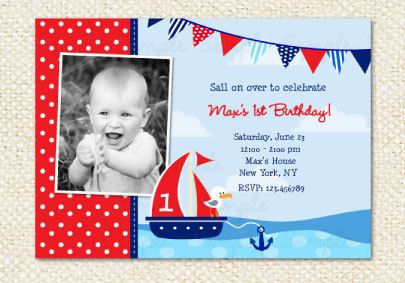 nautical birthday invitation sailboat invitations boat invitations