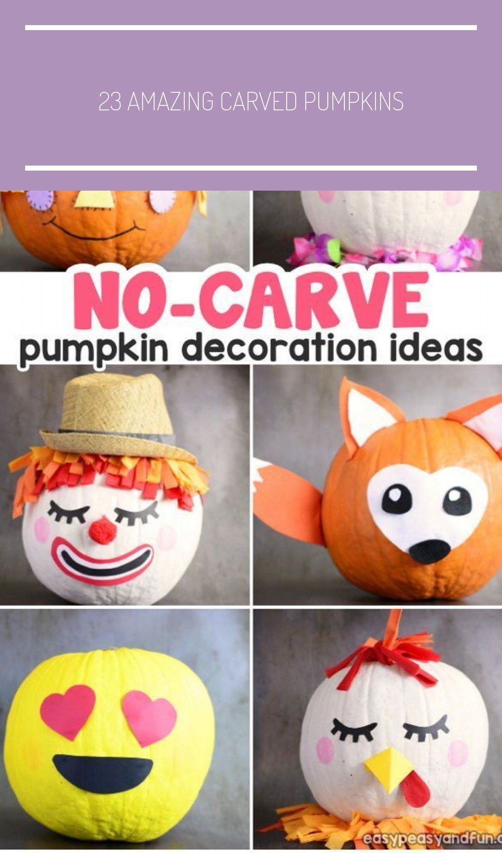 23 Amazing Carved Pumpkins #pumpkinpaintingideascreative