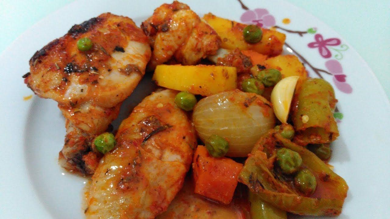 Fırında Sebzeli Tavuk Yemeği Tarifi Videosu