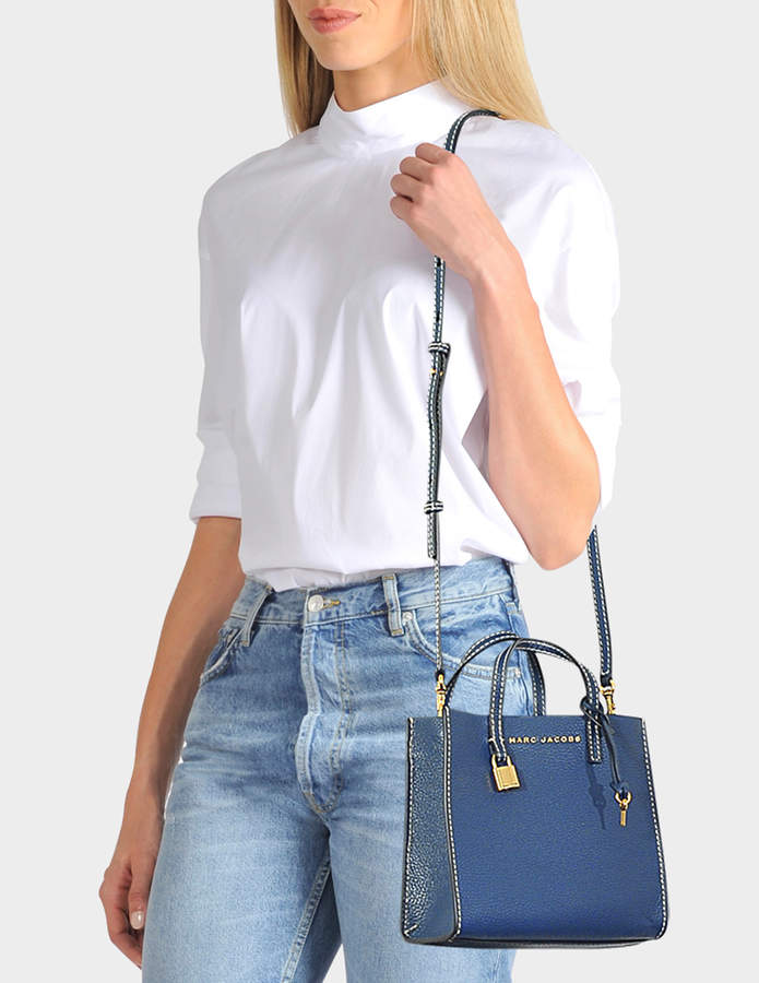 91de6cf4814f Marc Jacobs The Mini Grind Tote Bag in Blue Sea Cow Leather