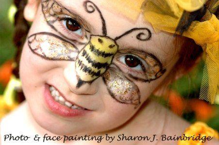 Face paint idea - bee craft ideas on site