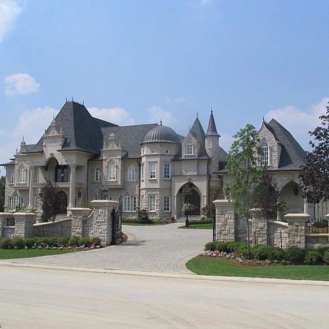 Stone Luxury Home Designs: Gated Mansion Pinterest: @entmillionaire