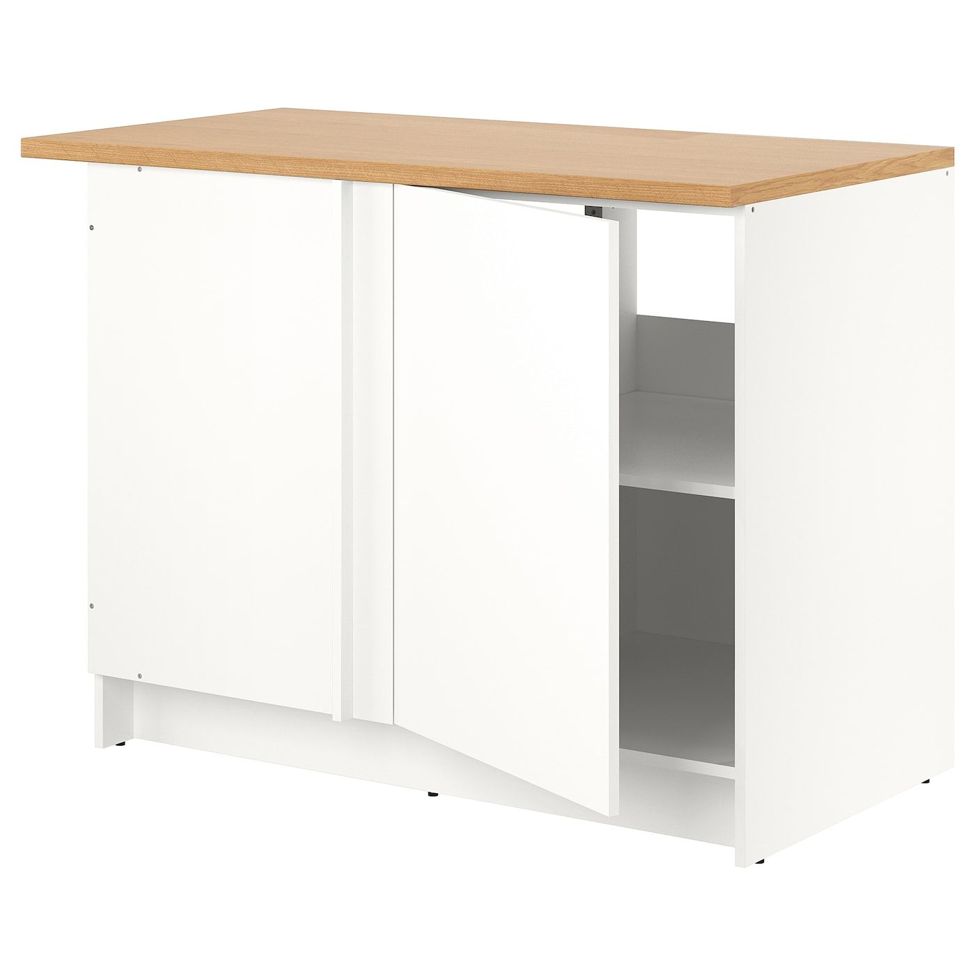Best Ikea Knoxhult Base Corner Cabinet White Freestanding 400 x 300