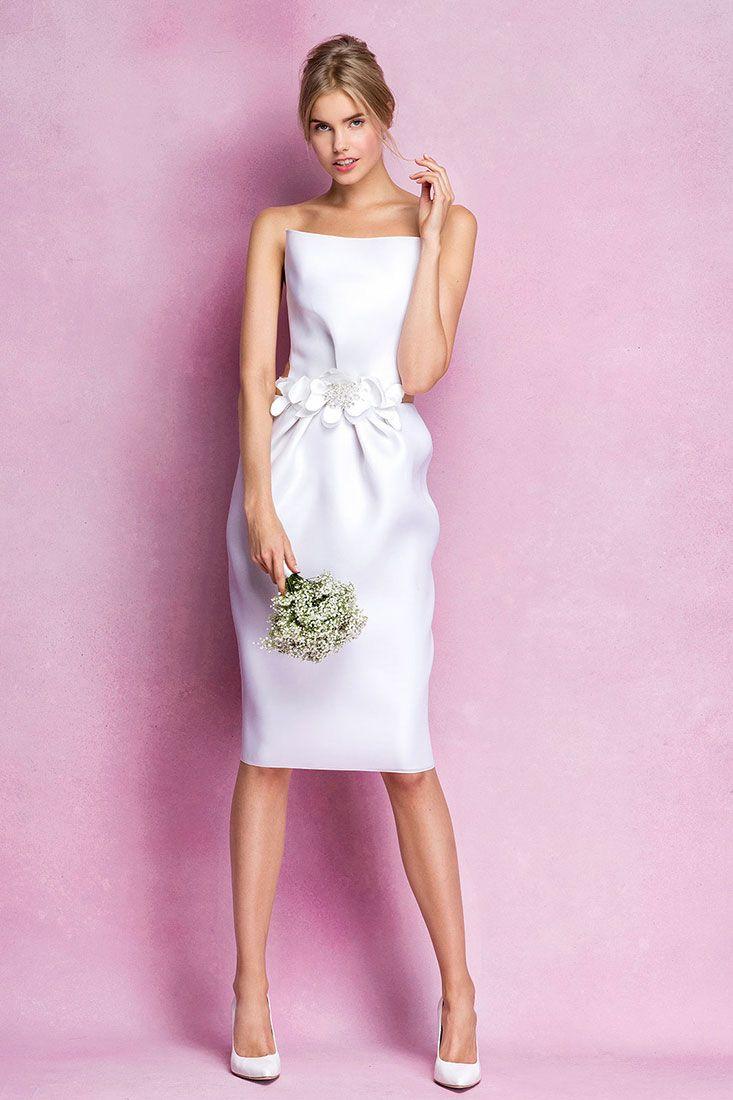 Vestido corto de novia Angel Sanchez short bridal gown | Brides ...