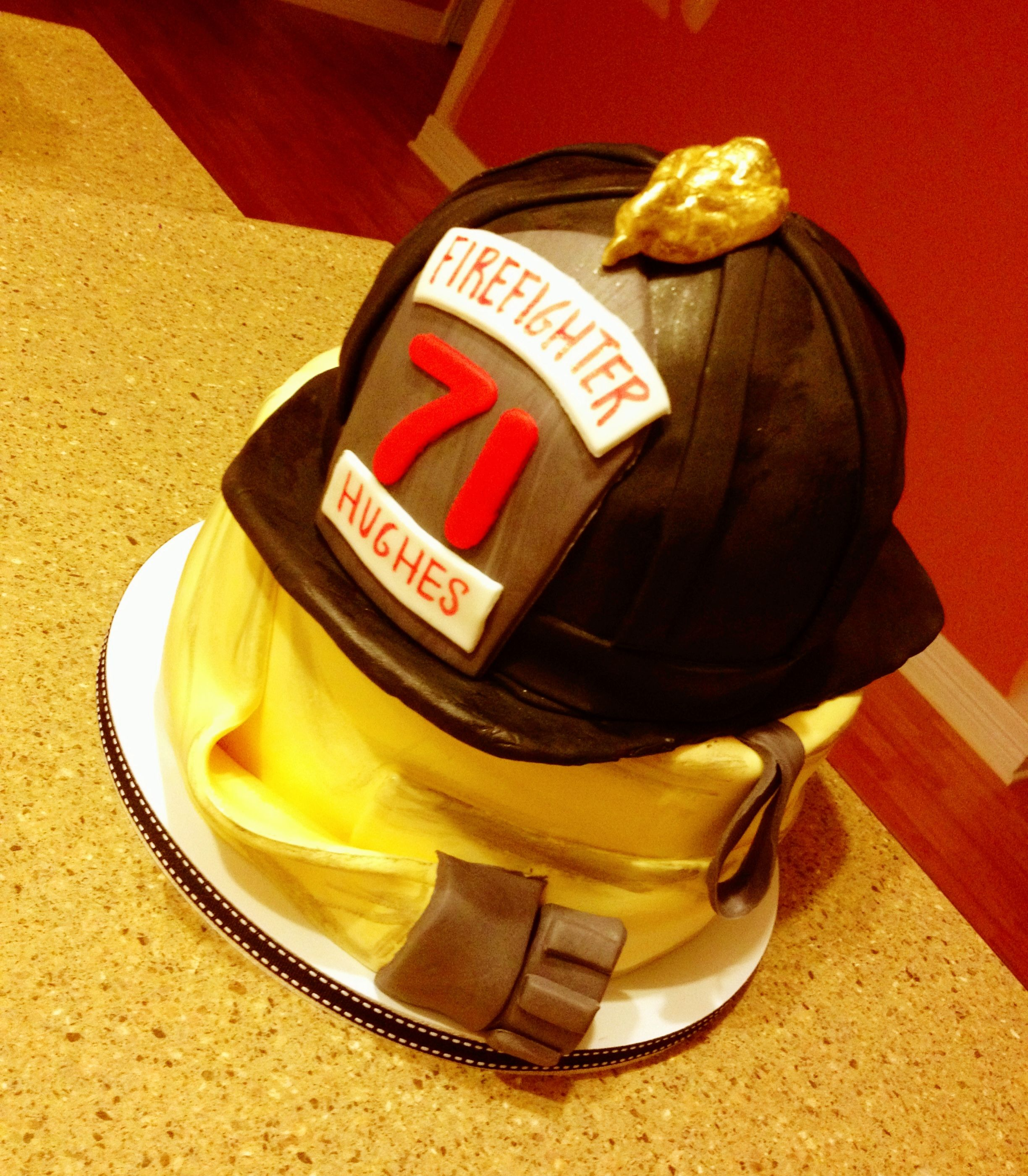 Firefighter Cake Image