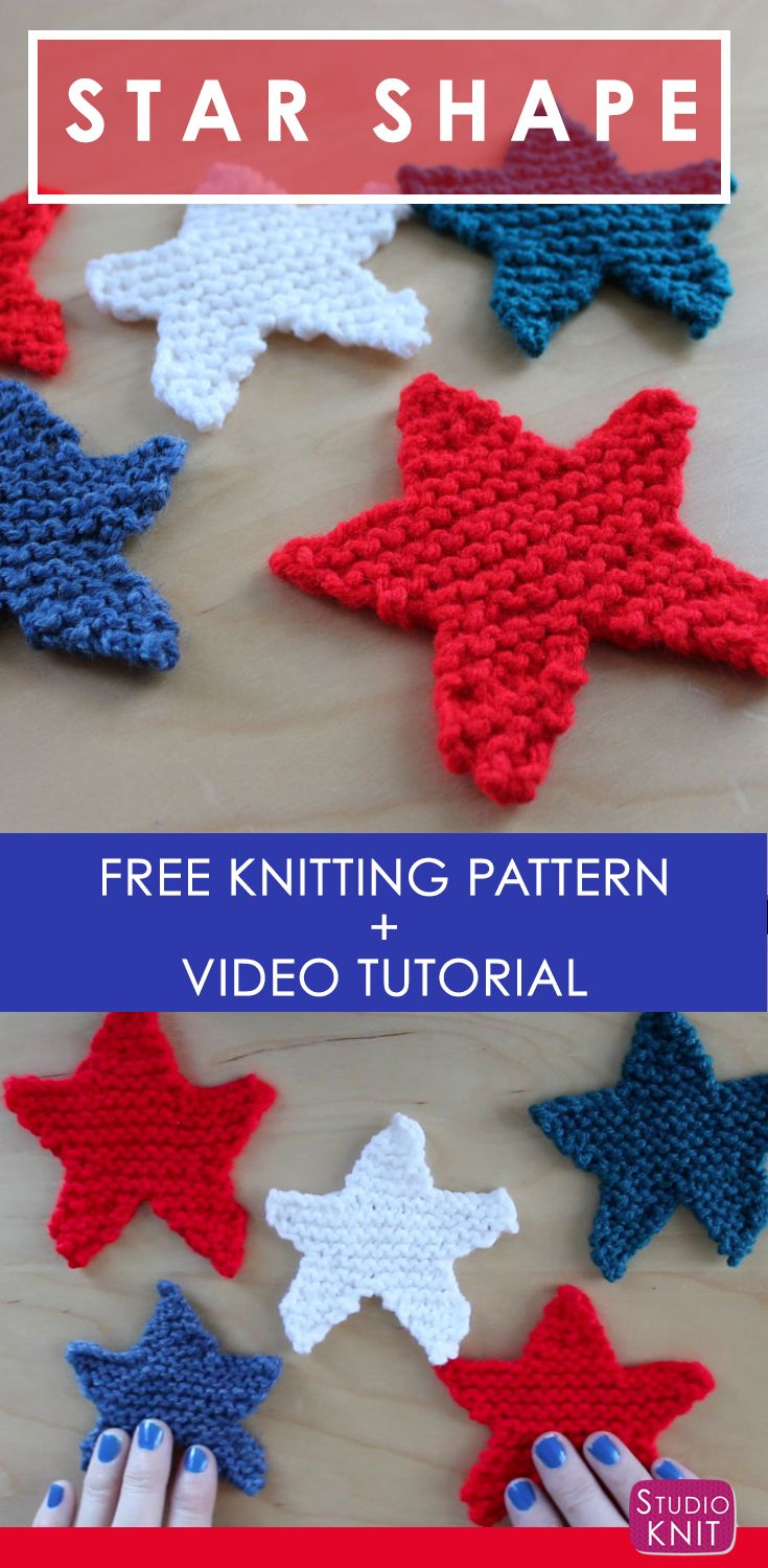 How To Knit A Star Shape With Knitting Pinterest Free Pattern