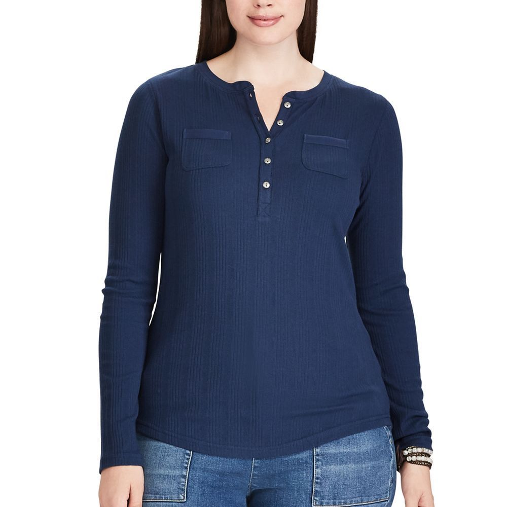 0caa7133a4e Plus Size Clothing. Plus Size Chaps Long Sleeve Henley Top