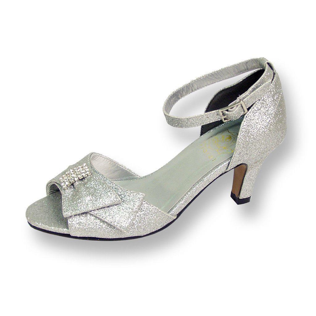 Cool FIC FLORAL Elisa Damenss wide wide Damenss width evening dress shoe for d7292e