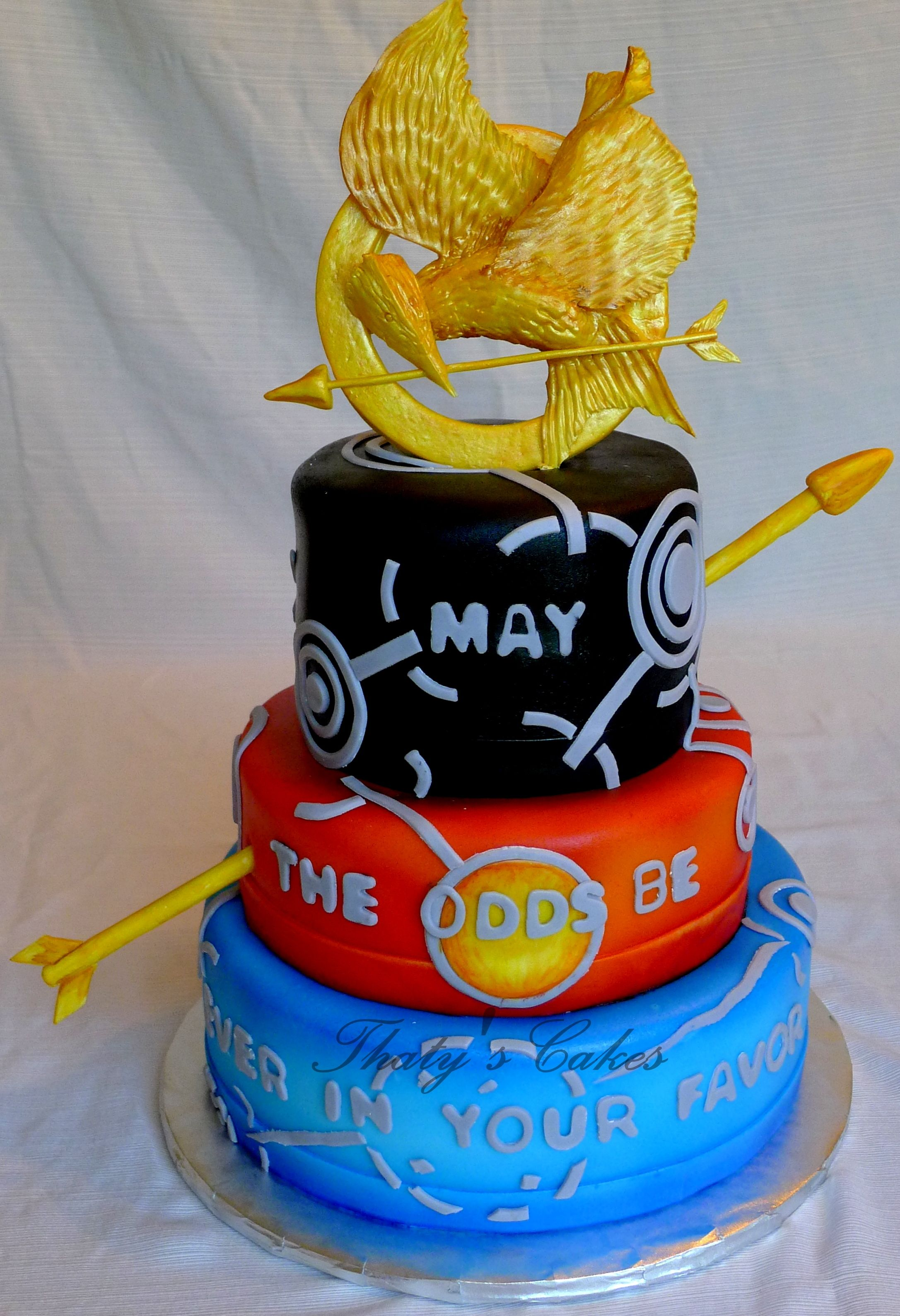 The Hunger Games Cakes All Edible Cakes Pinterest Hunger