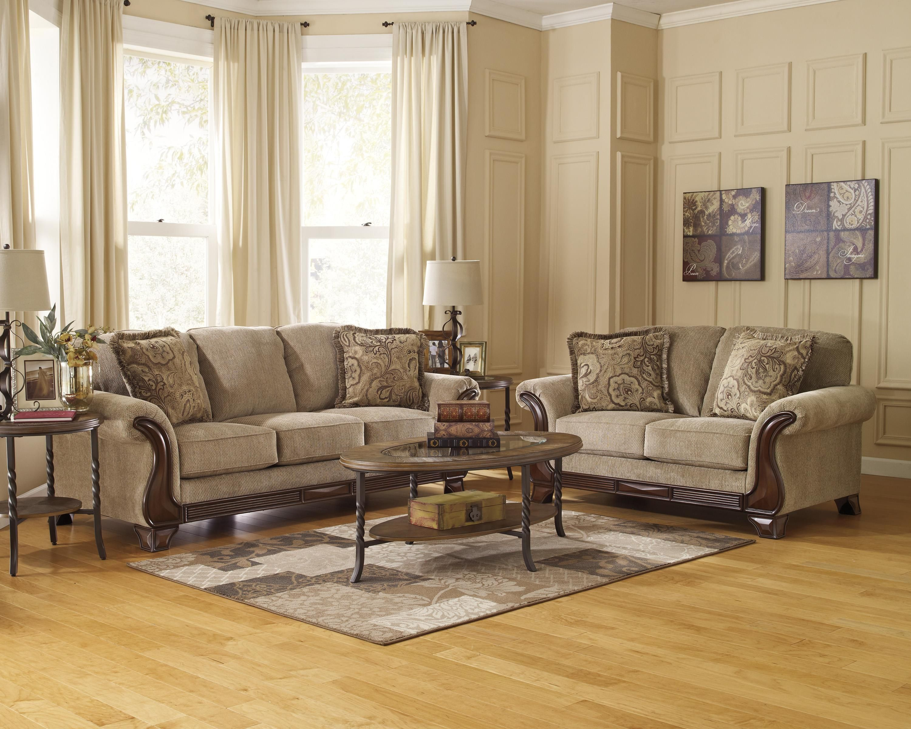 Lanett Stationary Living Room Group By Signature Design By Ashley Living Room Sets Living Room Furniture Couch Loveseat