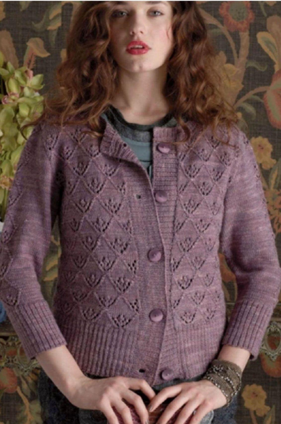 Triangle Lace Pat Cardigan | Free pattern, Patterns and Knitting ...