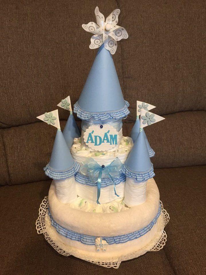 Pelenkavár Ádámnak... Diaper cake, Cake, Desserts