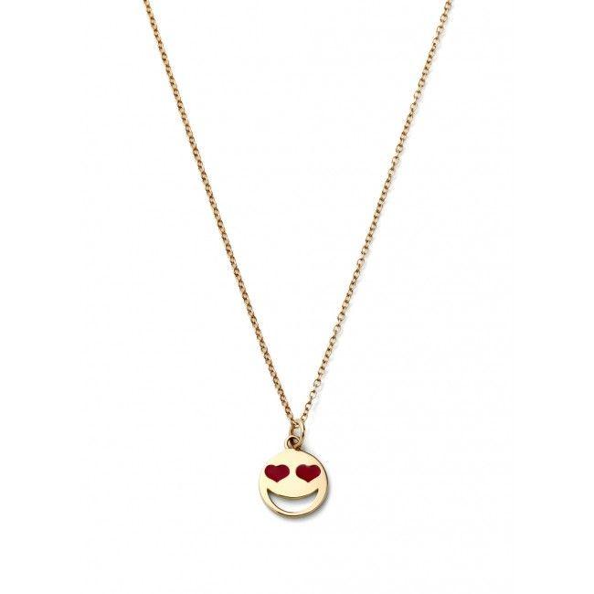 Alison Lou Medium Red Love Struck Necklace #emoticon