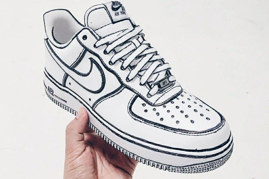buy online d179b 18024 Luftwaffe 1 Outfit, Air Force One Schuhe, Nike Air Force Ones,  Maßgefertigte Schuhe