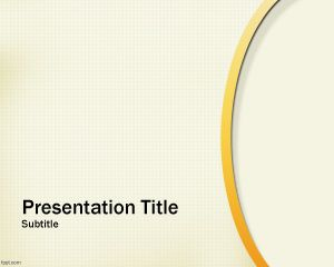 Free Abstract Gold Powerpoint Template With Nice Curved Line