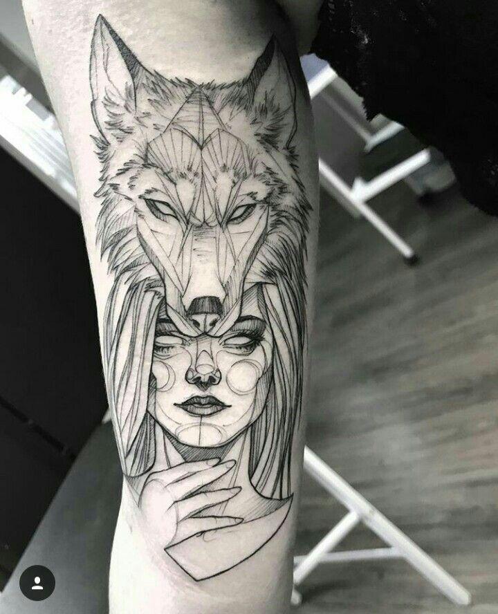 Capuz De Lobo Indian Tatuagem India Com Lobo Tatuagem