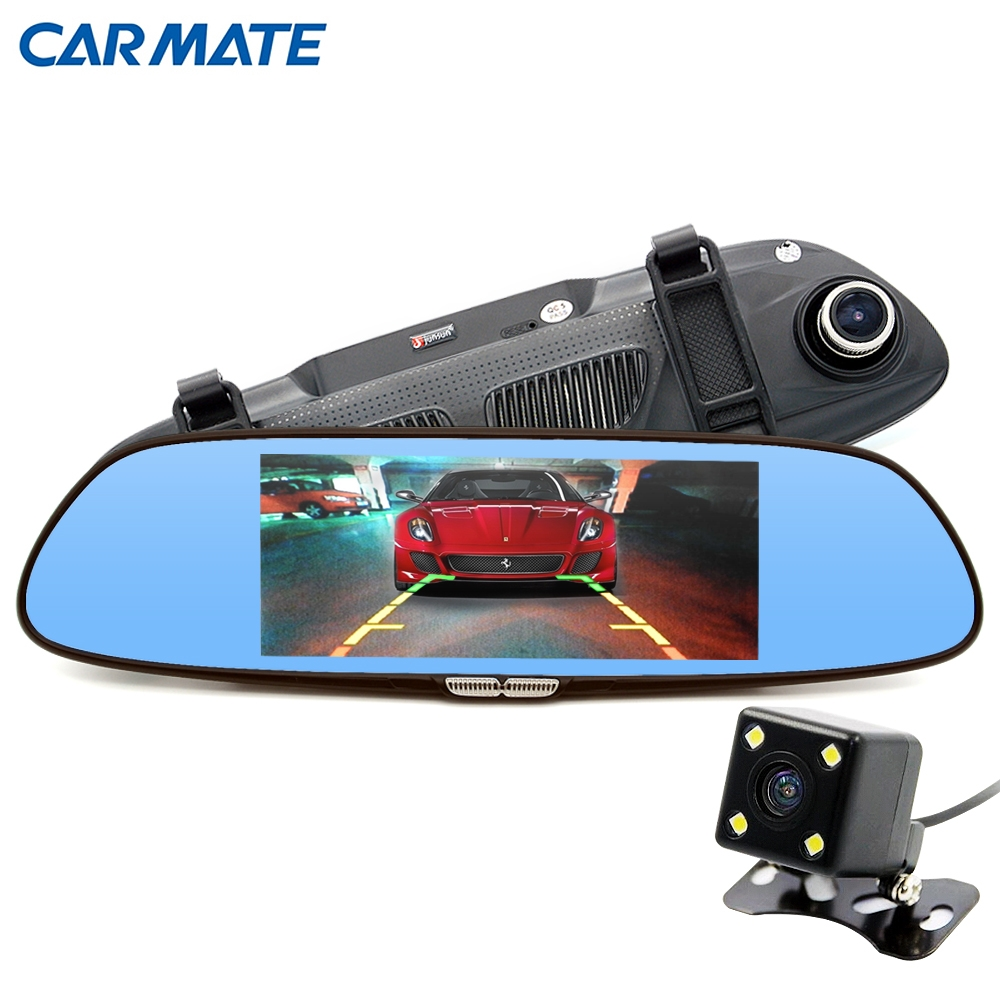 "69.00$  Watch here - http://alimt9.worldwells.pw/go.php?t=32739134903 - ""6.5"""" Car Camera Car DVR Dual Lens Review Mirror 2 Split View HD 720P Video Recorder Registrator Camcorder Dashcam"""