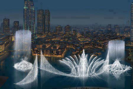 Fuente más grande del mundo en Dubai