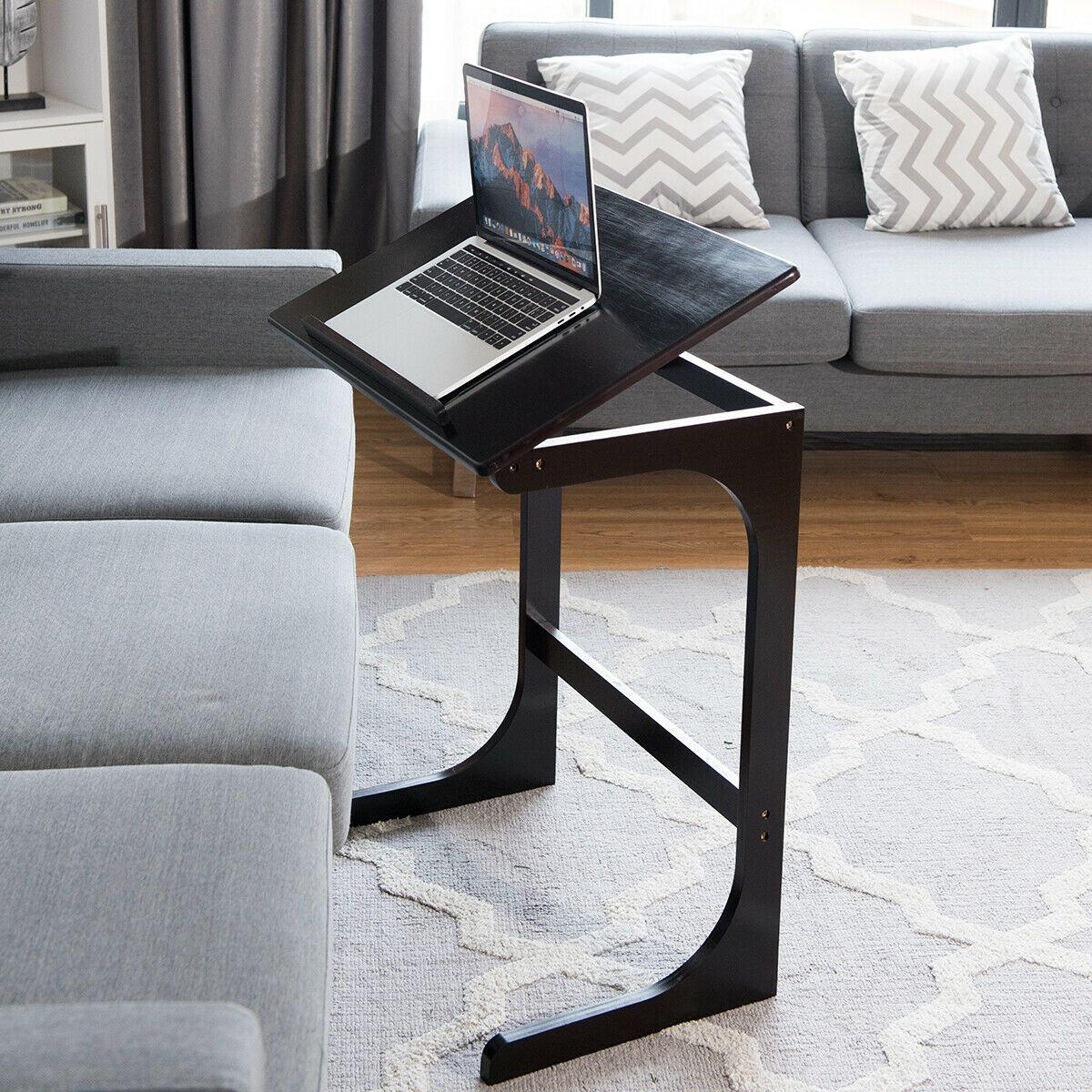 Adjustable CShape Couch End Table wth Tilting Top in 2020