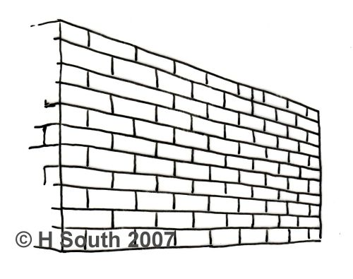 8 Steps To Drawing A Brick Wall In Perspective Brick Wall