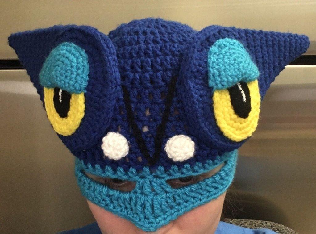 Frogadier (Pokemon) hat for my nephew\'s Halloween costume : crochet ...