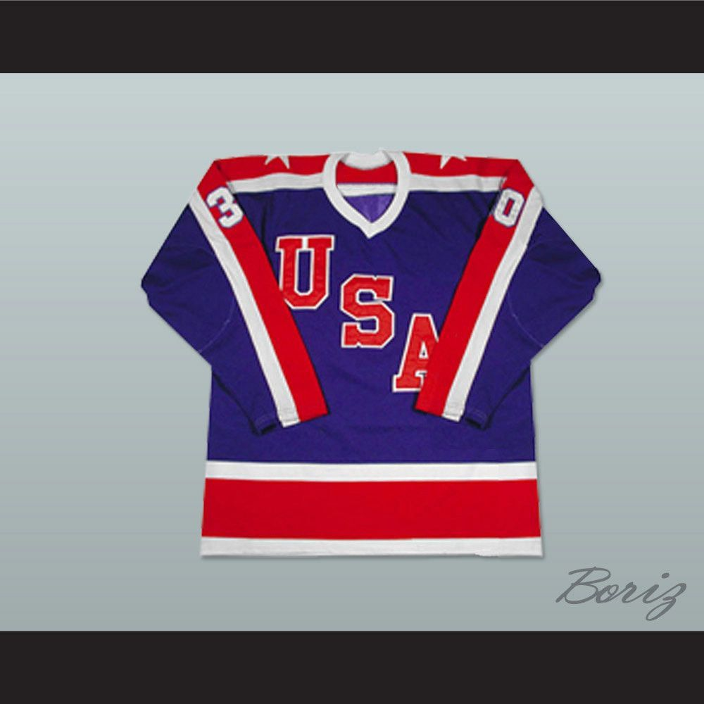 Jim Craig Team Usa Miracle On Ice Hockey Jersey 30 New Stitch Sewn Any Size Shipping Time Is About 3 5 Weeksi Have Al Hockey Jersey Ice Hockey Jersey Team Usa