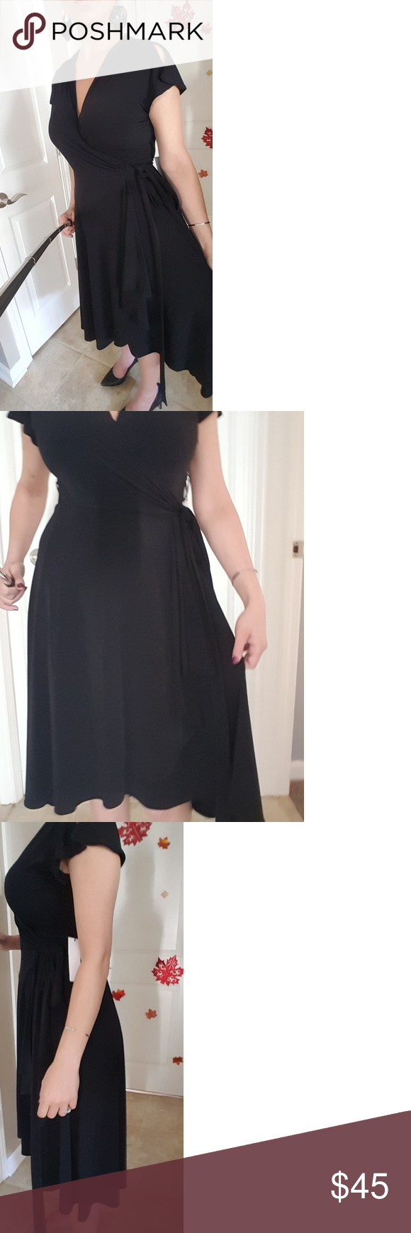 Black wrap dress wrap dresses wraps and customer support