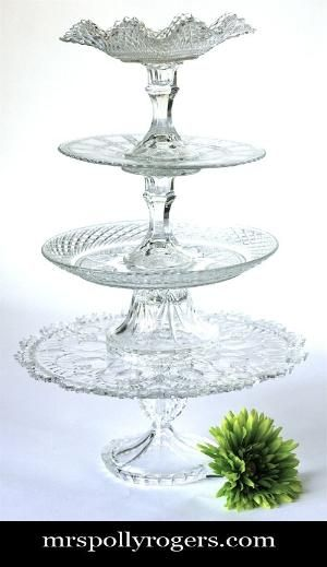 DIY Tiered Serving Platter (and/or jewelry stand) from dollar store/ thrift shop plates \u0026 candlesticks ! & DIY stacking serving tray - Thrift Store finds glued together   Tea ...