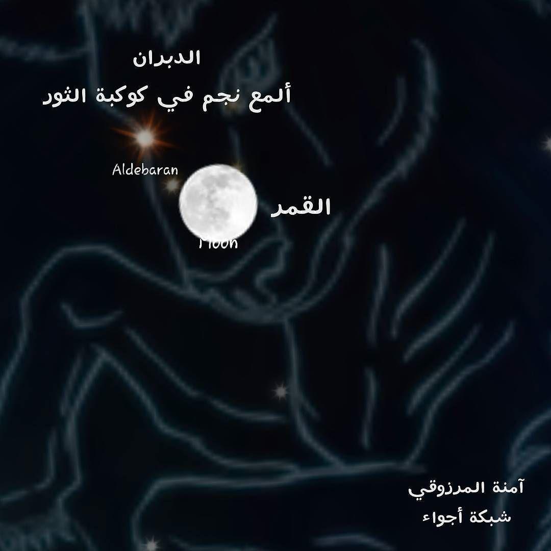 شبكة أجواء فلك تشاهدون الان القمر بالقرب من نجم الدبران Instagram Instagram Posts Movie Posters