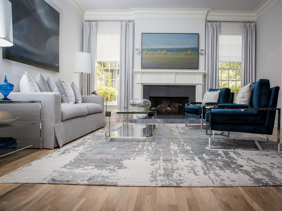 Formal Living Room With Serene Color Palette Dining Room Teal Formal Living Rooms Contemporary Living Room Design