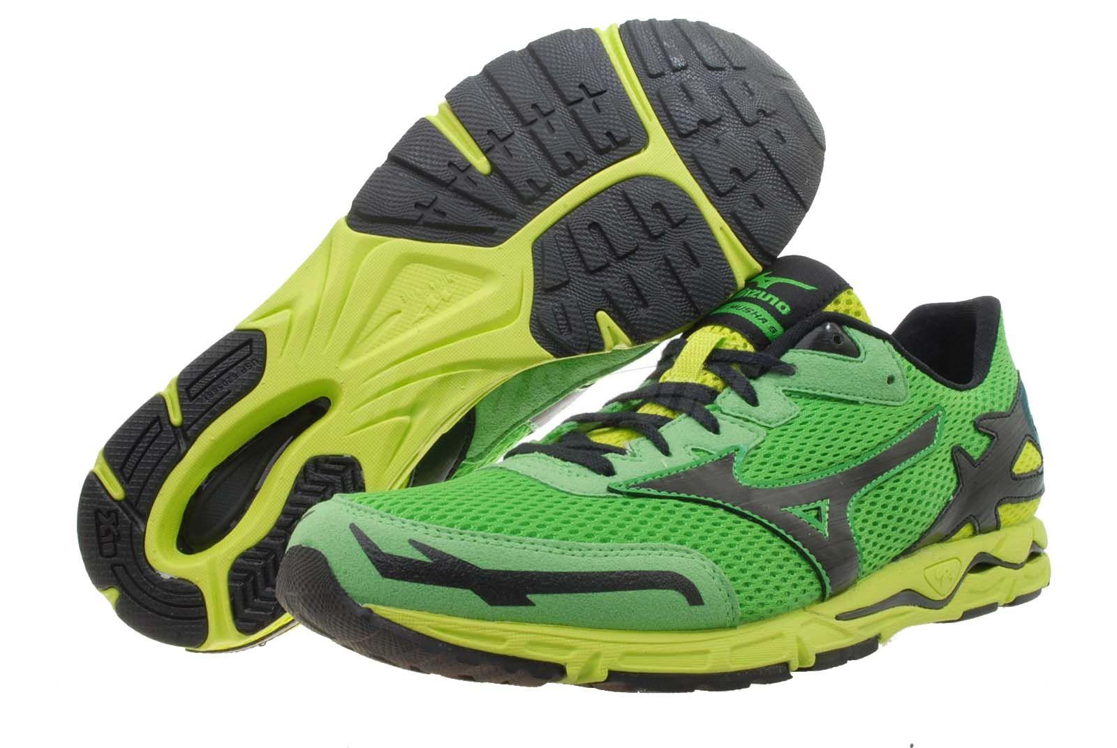 295f7f24e005 Mizuno Wave Musha 5 Green Mens Marathon Racing Running Shoes 8KS 36209 |  eBay