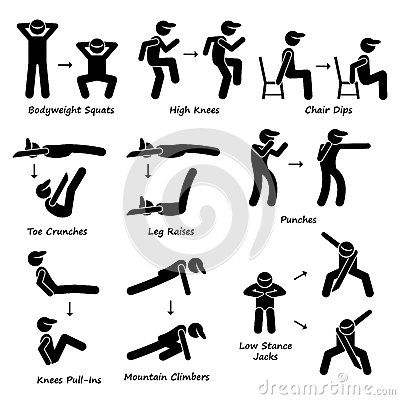 Body Workout Exercise Fitness Training (Set 2) Clipart