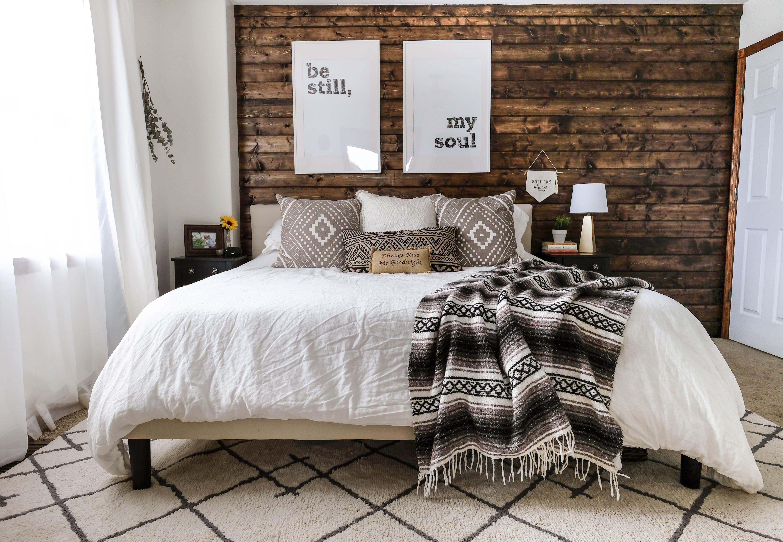 Modern Rustic Bedroom Reveal Tips On Blending Two Styles Modern Rustic Bedrooms Rustic Bedroom Rustic Bedroom Decor