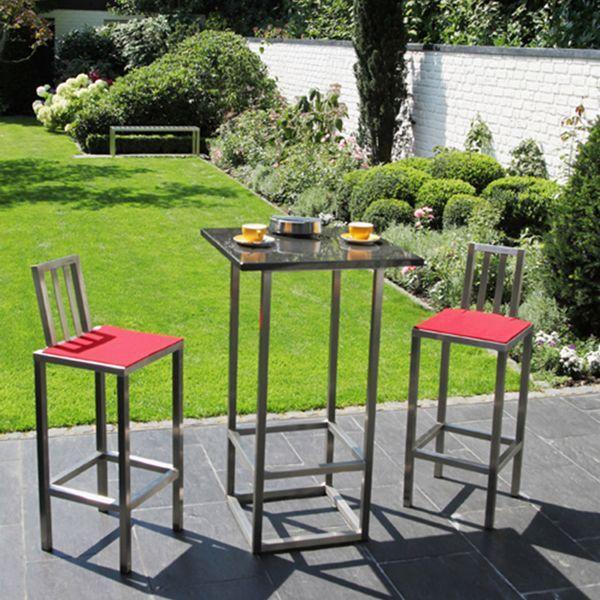 outdoor-galerie: edelstahl-gartenmöbel aus rostfreiem stahl, Design ideen