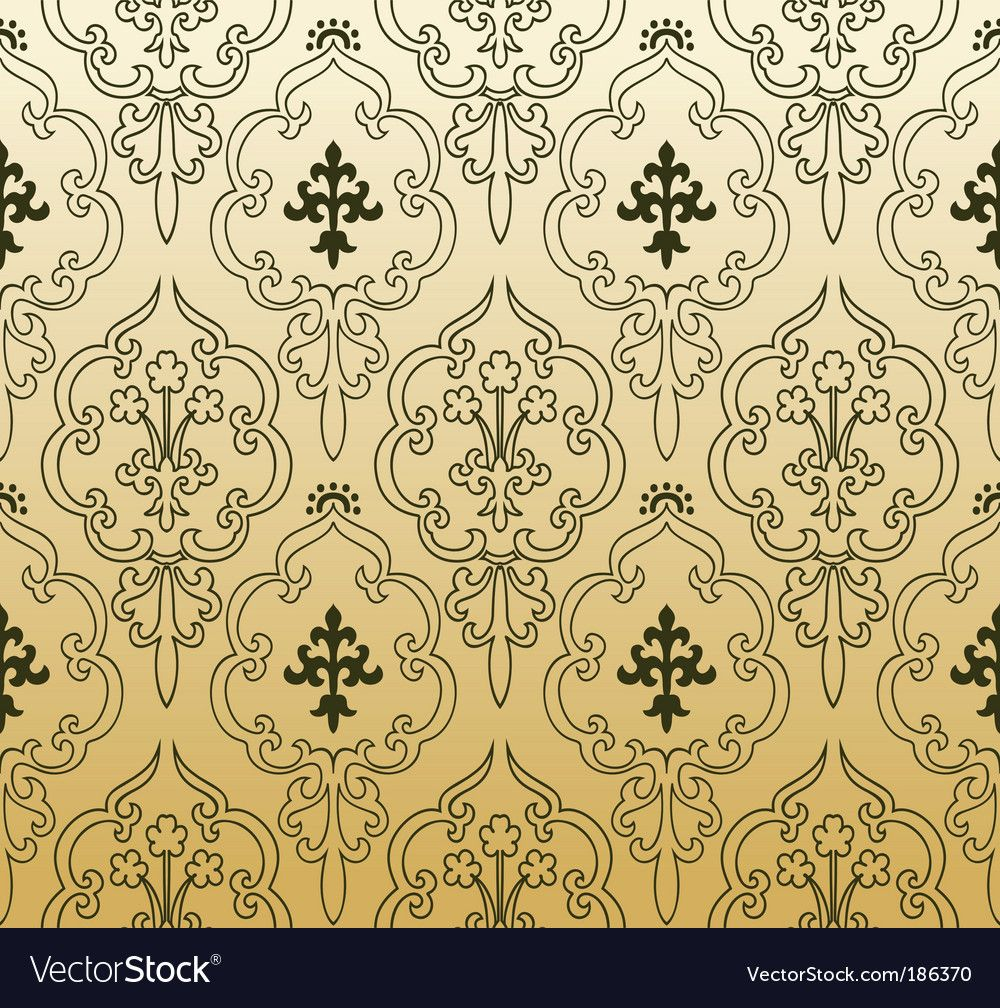 Vintage Wallpaper Pattern Royalty Free Vector Image Sponsored