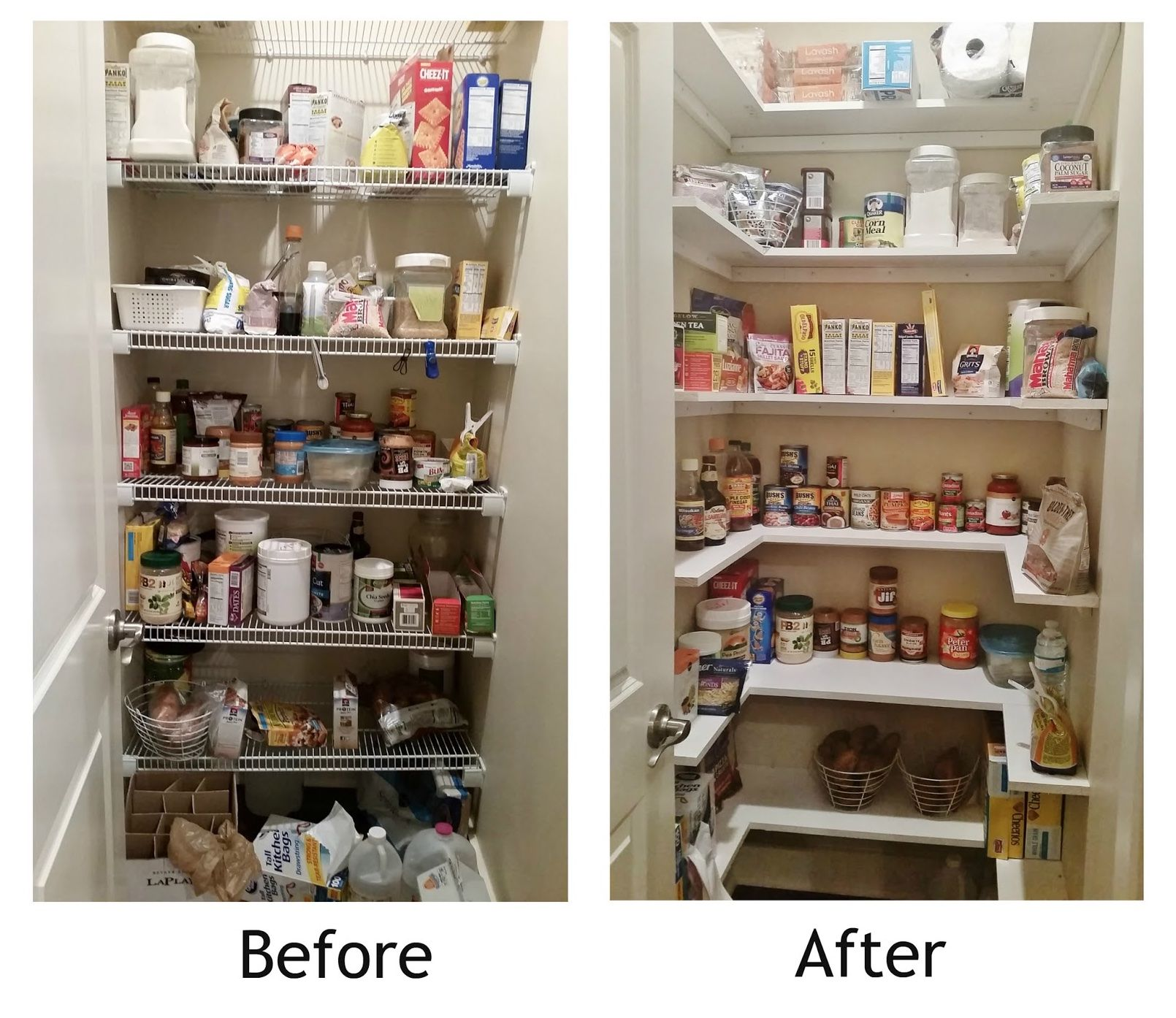 image result for before and after tiny kitchen pantry remodel pantry redo pantry design on kitchen organization before and after id=35574