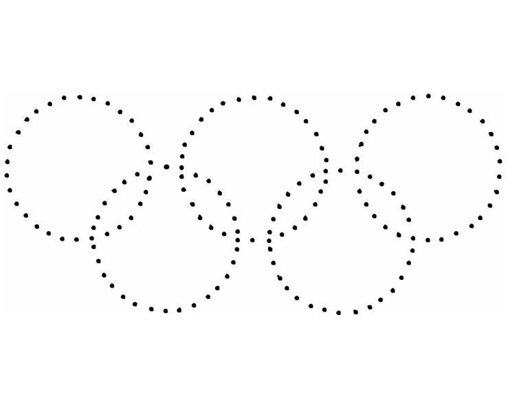 Koła Olimpijskie połącz kropki | Kropki, Kodowanie, Do wydrukowania