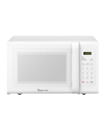 Magic Chef 0 9 Cubic Feet 900w Countertop Microwave Oven White