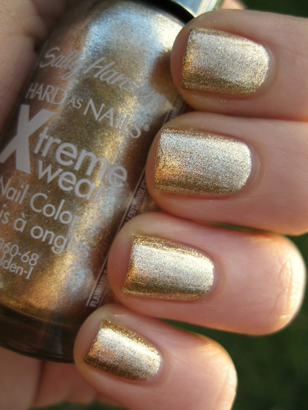 Lacquer And Lattes Sally Hansen Golden I Swatch Potential Wedding Pedi Color