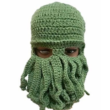 e04a1e9c32d SurpCos Octopus Hat Funny Winter Warm Octopus Beard Fisher Cap Wind Ski  Face Mask Review