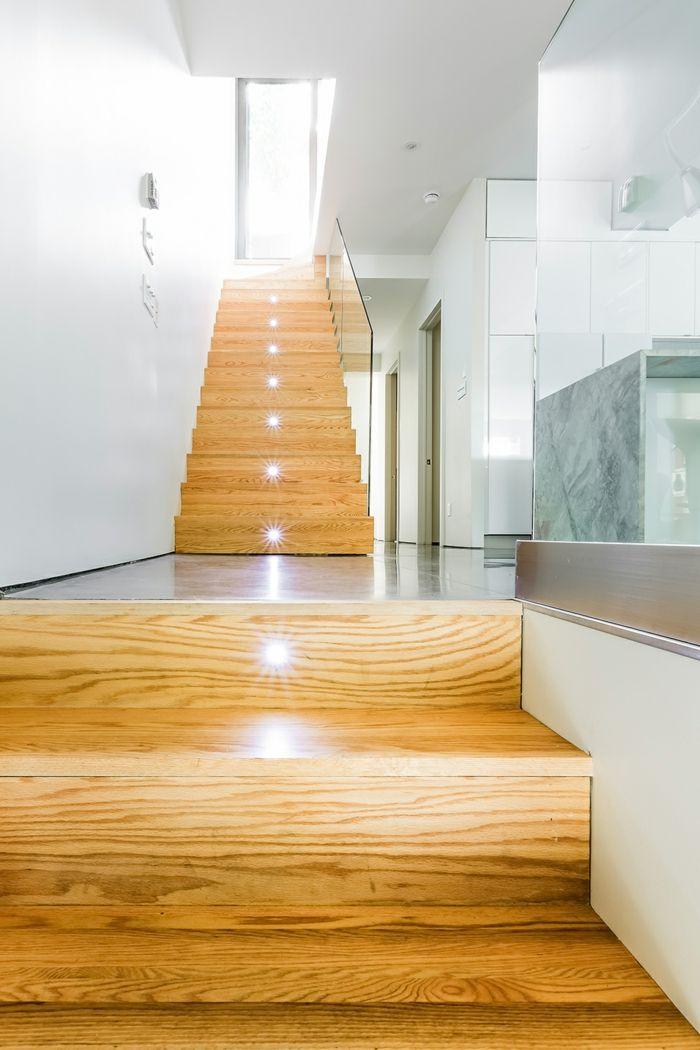 Wonderful Treppenbeleuchtung Innentreppe Led Leuchten Treppenstufen