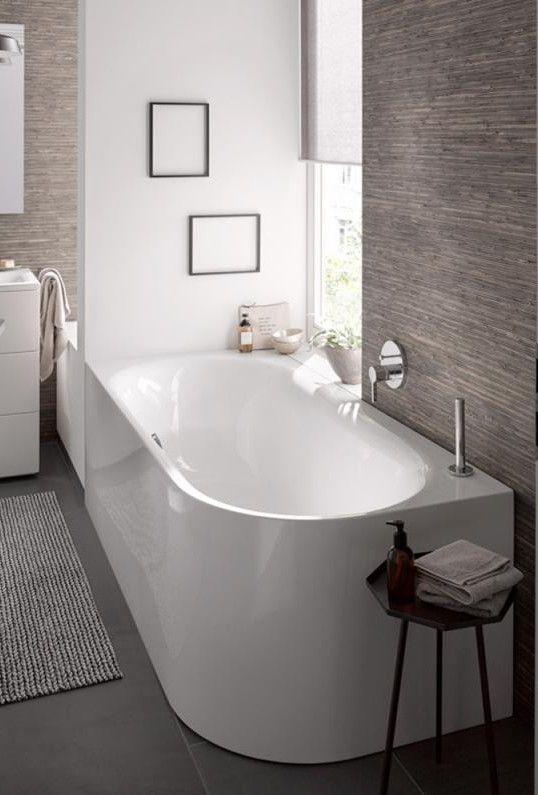 Bette Lux Oval Silhouette Eck-Badewanne Wanne weiß, mit BetteGlasur Plus, Ablaufgarnitur chrom - 3425-000CERVS,PLUS+B601-901