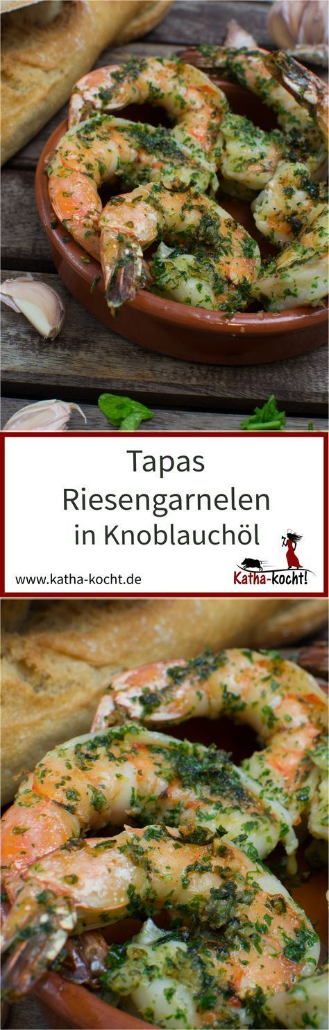 Tapas - Riesengarnelen in Knoblauchöl #shrimpscampi
