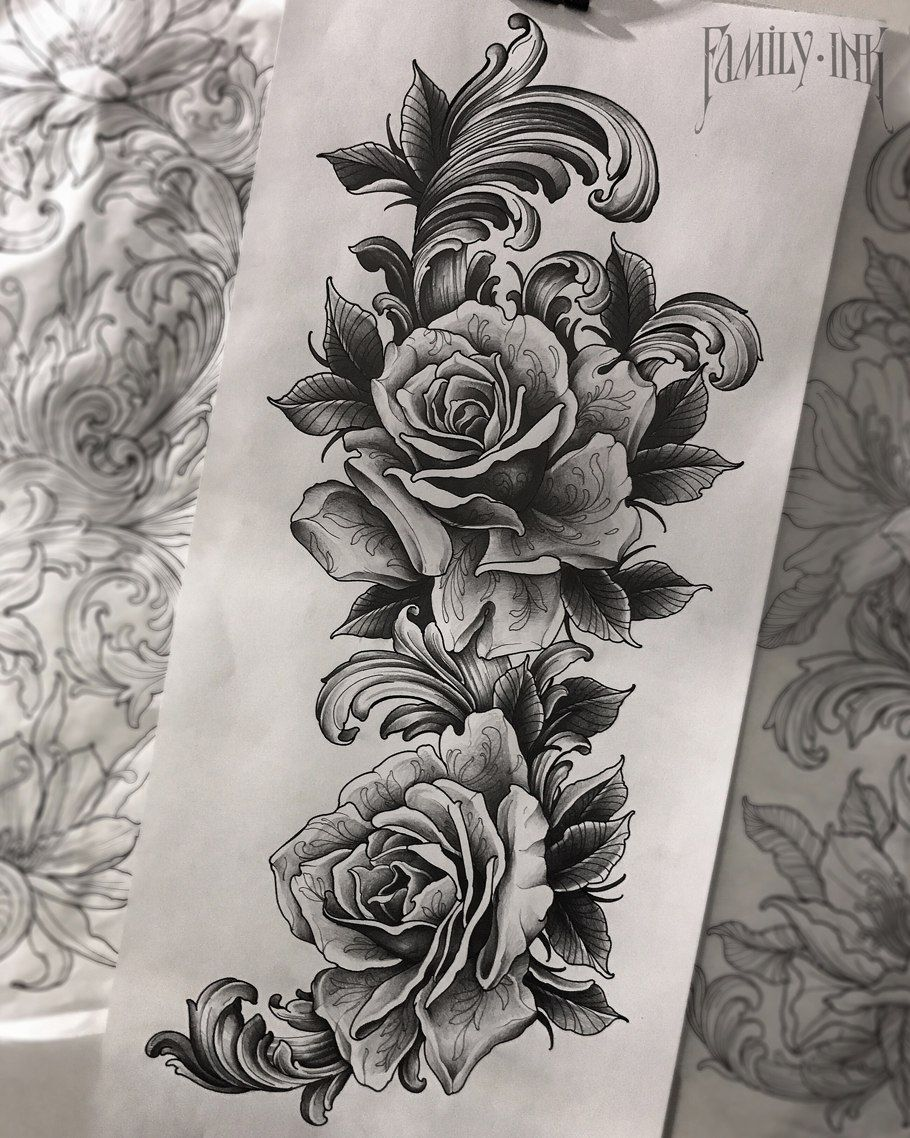 Rose Garden Garden Tattoos Rose Tattoo Sleeve Filigree Tattoo