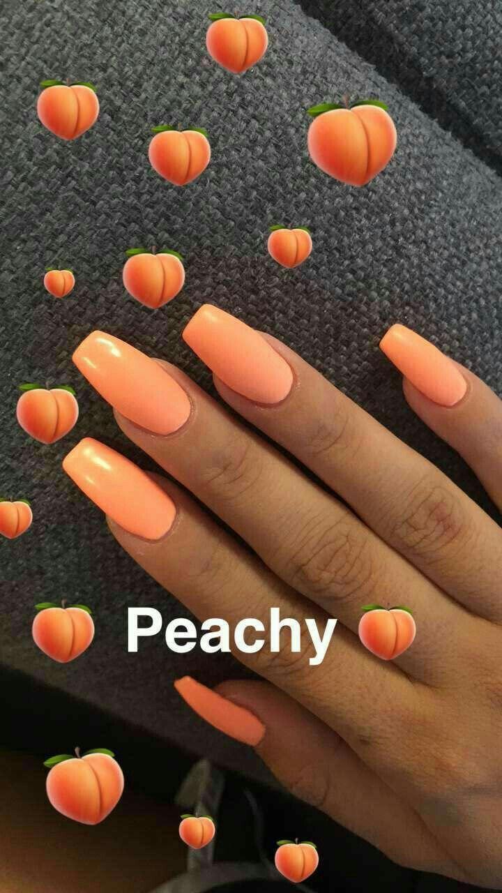 Pinterest Nissadadon Nails Peach Nails Nails Cute Nails