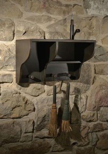 BERWICK SHELF WITH PEGS Primitive Country Rustic Organize Shelves Kitchen Bath