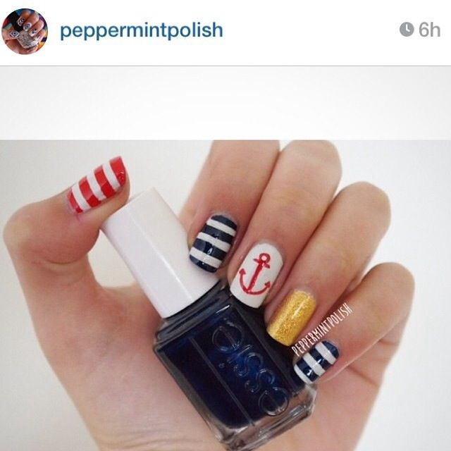 Beautiful marine nails